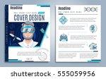 hi tech presentation cover...   Shutterstock .eps vector #555059956