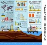 petroleum industry infographics ... | Shutterstock .eps vector #555059962