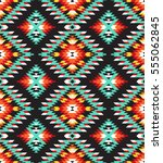 tribal seamless colorful... | Shutterstock .eps vector #555062845