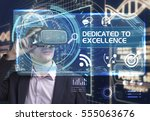 business  technology  internet... | Shutterstock . vector #555063676