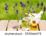 aroma essential spa oil and... | Shutterstock . vector #555066475