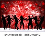 valentine's day event | Shutterstock .eps vector #555070042