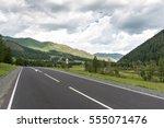 mountain road. altai republic ... | Shutterstock . vector #555071476