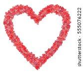 valentine's day heart border... | Shutterstock .eps vector #555076222