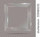vector square shiny glass frame ... | Shutterstock .eps vector #555083152