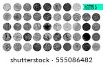 hand texture. set. the art... | Shutterstock .eps vector #555086482