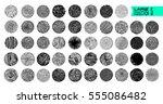 hand texture. set. the art... | Shutterstock .eps vector #555086482