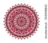 color floral mandala  vector... | Shutterstock .eps vector #555098842