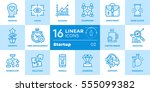 vector set of linear icons for... | Shutterstock .eps vector #555099382