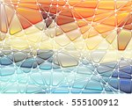abstract geometric mosaic... | Shutterstock .eps vector #555100912