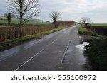 Rural  Wet Country Road In...