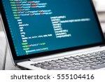html code on laptop screen. web ...