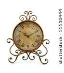 Vintage Clock Over White