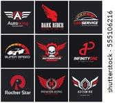 logo collection of automotive... | Shutterstock .eps vector #555106216