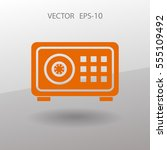 flat icon of safe. vector... | Shutterstock .eps vector #555109492
