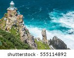 lighthouse at cape point  south ... | Shutterstock . vector #555114892