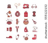 vector hand made icons set  ... | Shutterstock .eps vector #555122152