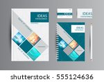 corporate identity for business.... | Shutterstock .eps vector #555124636
