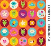 nature circles pattern cute...   Shutterstock .eps vector #555138355