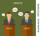 elections and debate concept... | Shutterstock .eps vector #555141646