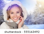 winter. | Shutterstock . vector #555163492