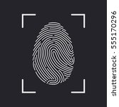 fingerprint scan icon | Shutterstock .eps vector #555170296