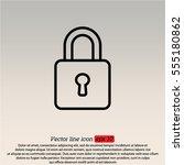web line icon. padlock   Shutterstock .eps vector #555180862
