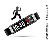 smart wristband tracker fitness ... | Shutterstock .eps vector #555183175