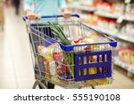 consumerism and people concept  ... | Shutterstock . vector #555190108