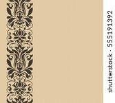 seamless vintage floral border... | Shutterstock .eps vector #555191392