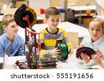 education  children  technology ... | Shutterstock . vector #555191656