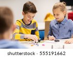 education  children  technology ... | Shutterstock . vector #555191662