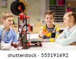 education  children  technology ... | Shutterstock . vector #555191692