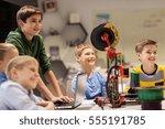 education  children  technology ... | Shutterstock . vector #555191785