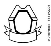 shield decoration trendy ribbon ...
