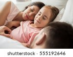 people  family and rest concept ... | Shutterstock . vector #555192646