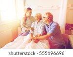 medicine  support  family... | Shutterstock . vector #555196696