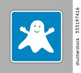 ghost isolated sign. white icon ... | Shutterstock .eps vector #555197416