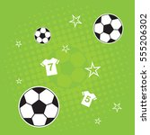 green soccer background | Shutterstock .eps vector #555206302