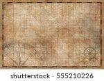 old vintage map background | Shutterstock . vector #555210226