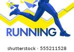 vector legs running lines...   Shutterstock .eps vector #555211528