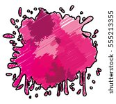 pink paint splash over white... | Shutterstock .eps vector #555213355