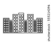 urban buildings icon over white