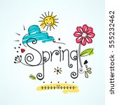 spring  colorful vector... | Shutterstock .eps vector #555232462