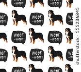 Bernese Mountain Dog Vector...
