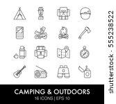 vector illustration  set of...   Shutterstock .eps vector #555238522