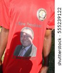 Small photo of Harare,Zimbabwe,October 25 2016.Portrait of Morgan Tsvangira,leader of the MDC Zimbabwe's main opposition party on a campaign regalia..