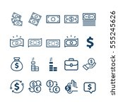 vector set of money line icons | Shutterstock .eps vector #555245626