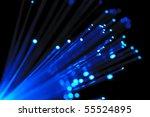 blue optical fibers against ... | Shutterstock . vector #55524895
