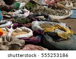 Small photo of Spices and herbs on the market of Debark in Ethiopia